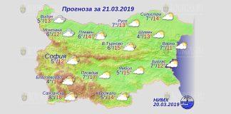 21 марта 2019 года, погода в Болгарии