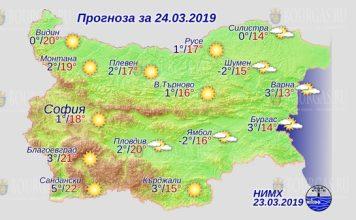24 марта 2019 года, погода в Болгарии