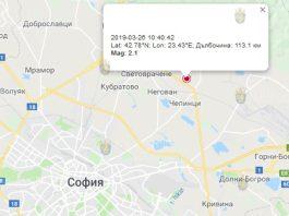 27 марта 2019 года, землетрясение в Болгарии