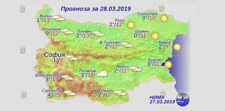 28 марта 2019 года, погода в Болгарии