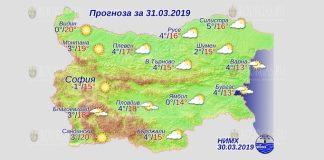 31 марта 2019 года, погода в Болгарии