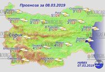 8 марта 2019 года, погода в Болгарии