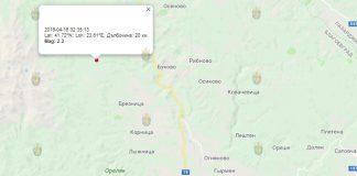 16 апреля 2019 года, землетрясение в Болгарии
