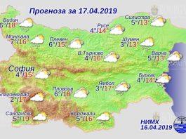 17 апреля 2019 года, погода в Болгарии