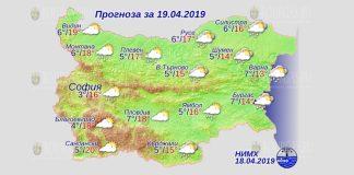 19 апреля 2019 года погода в Болгарии