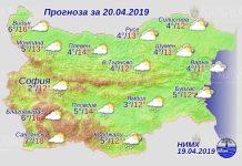 20 апреля 2019 года погода в Болгарии