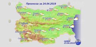 24 апреля 2019 года погода в Болгарии