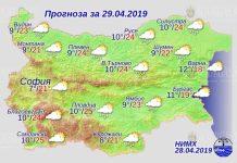 29 апреля 2019 года погода в Болгарии