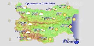 3 апреля 2019 года, погода в Болгарии