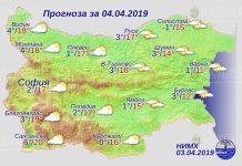 4 апреля 2019 года, погода в Болгарии