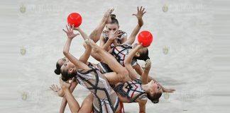 Сборная Болгарии стала лучшей в многоборье на КМ по художественной гимнастике