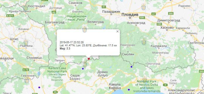 17 мая землетрясение в Болгарии