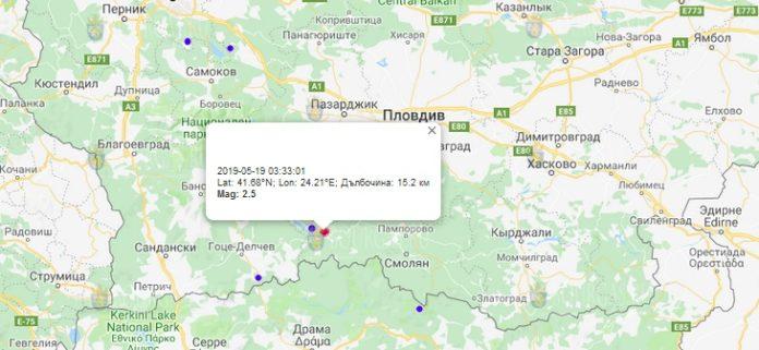 19 мая землетрясение в Болгарии