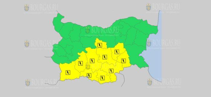 23 мая Желтый код в Болгарии