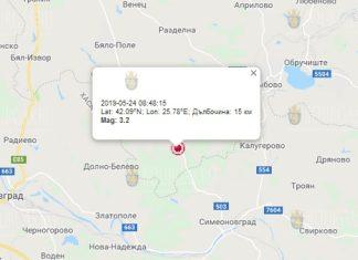 24 мая землетрясение в Болгарии