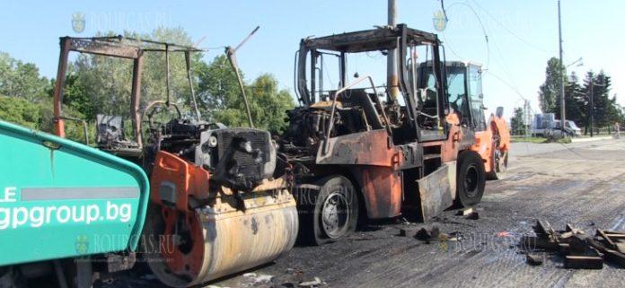 Пожар оставил Бургас без троллейбусов