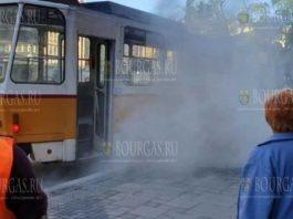 В Софии загорелся трамвай