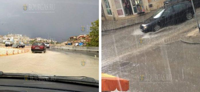 Варна в который раз утонула от сильного ливня