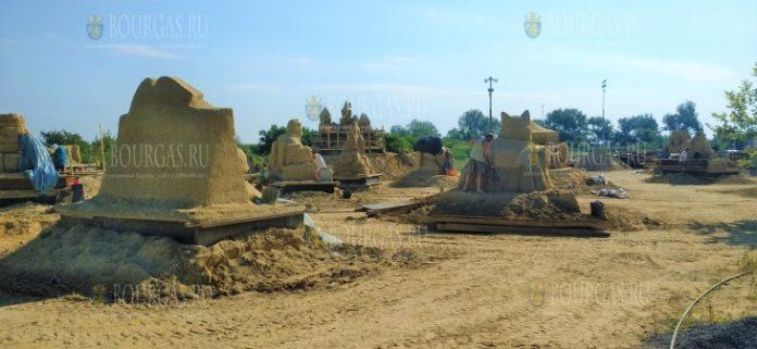 12-й фестиваль песчаных скульптур в Бургасе