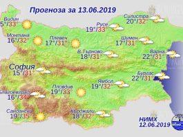 13 июня погода в Болгарии