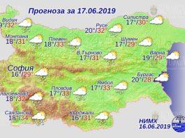 17 июня погода в Болгарии