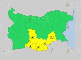 26 июня Желтый код в Болгарии