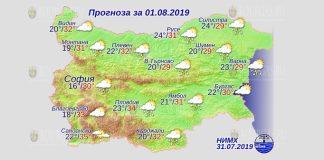 1 августа погода в Болгарии