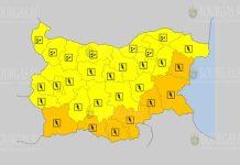 10 июля Оранжевый и Желтый коды в Болгарии