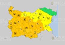14 июля Оранжевый и Желтый коды в Болгарии