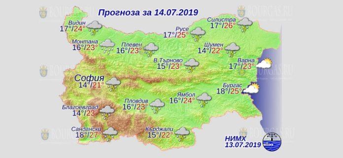 14 июля погода в Болгарии
