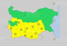 16 июля Желтый код в Болгарии