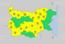 2 июля Желтый коды в Болгарии