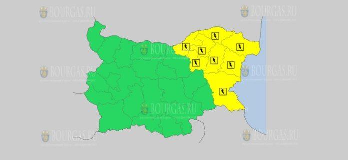 23 июля Желтый код в Болгарии