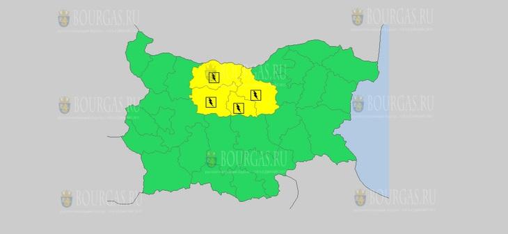 24 июля Желтый код в Болгарии