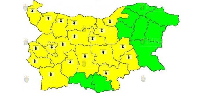28 июля горячий Желтый код в Болгарии