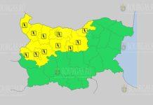 29 июля грозовой Желтый код в Болгарии
