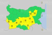 3 июля Желтый коды в Болгарии
