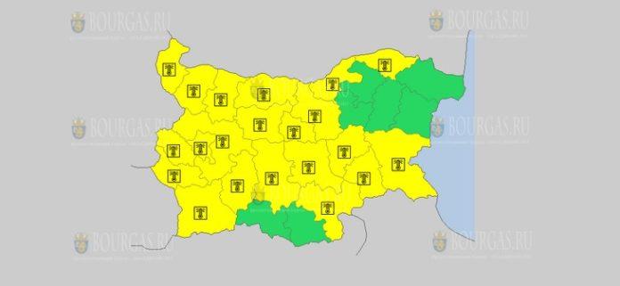 7 июля Желтый код в Болгарии