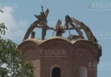 Молния снесла купол церкви в преславской деревне в Болгарии