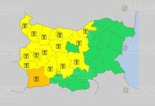 13 августа жаркий Желтый код в Болгарии