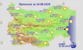 14 августа погода в Болгарии