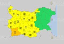 14 августа жаркий Желтый код в Болгарии