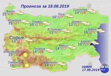 18 августа погода в Болгарии