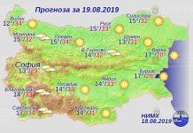 19 августа погода в Болгарии