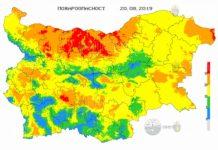 20 августа пожароопасность в Болгарии
