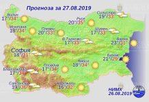 27 августа погода в Болгарии