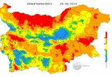 28 августа пожароопасность в Болгарии