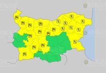 3 августа ветреный и грозовой Желтый код в Болгарии