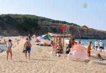 Бурное море съедает пляж Синеморец