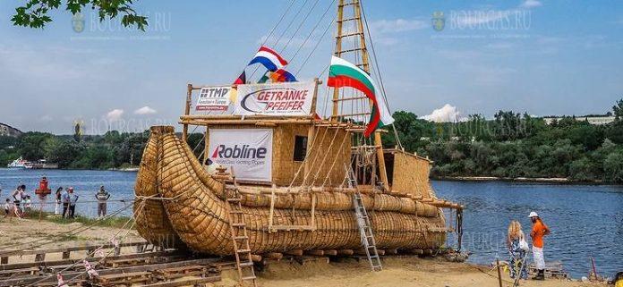 В Болгарии спустили на воду тростниковое судно Абора-4